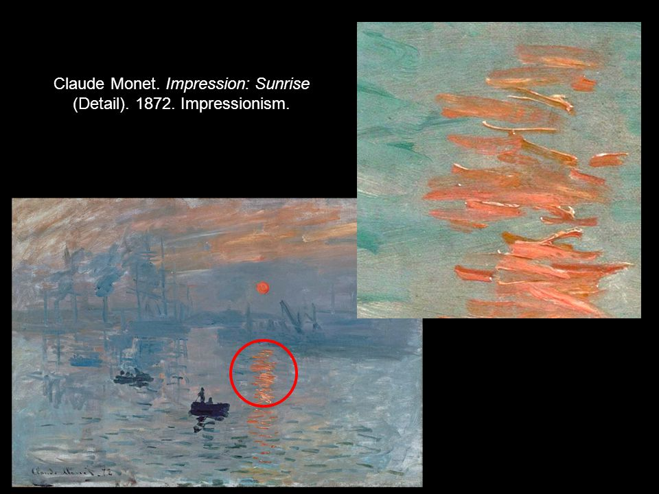 Claude Monet. Impression: Sunrise (Detail). 1872. Impressionism.