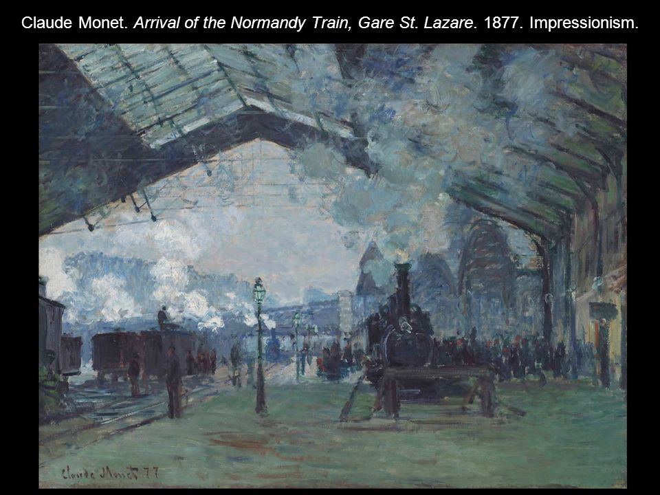 Claude Monet. Arrival of the Normandy Train, Gare St. Lazare. 1877