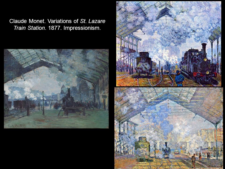 Claude Monet. Variations of St. Lazare Train Station. 1877