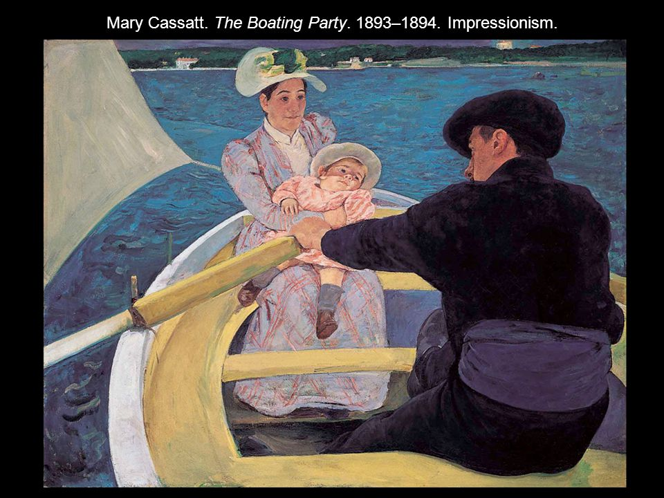 Mary Cassatt. The Boating Party. 1893–1894. Impressionism.