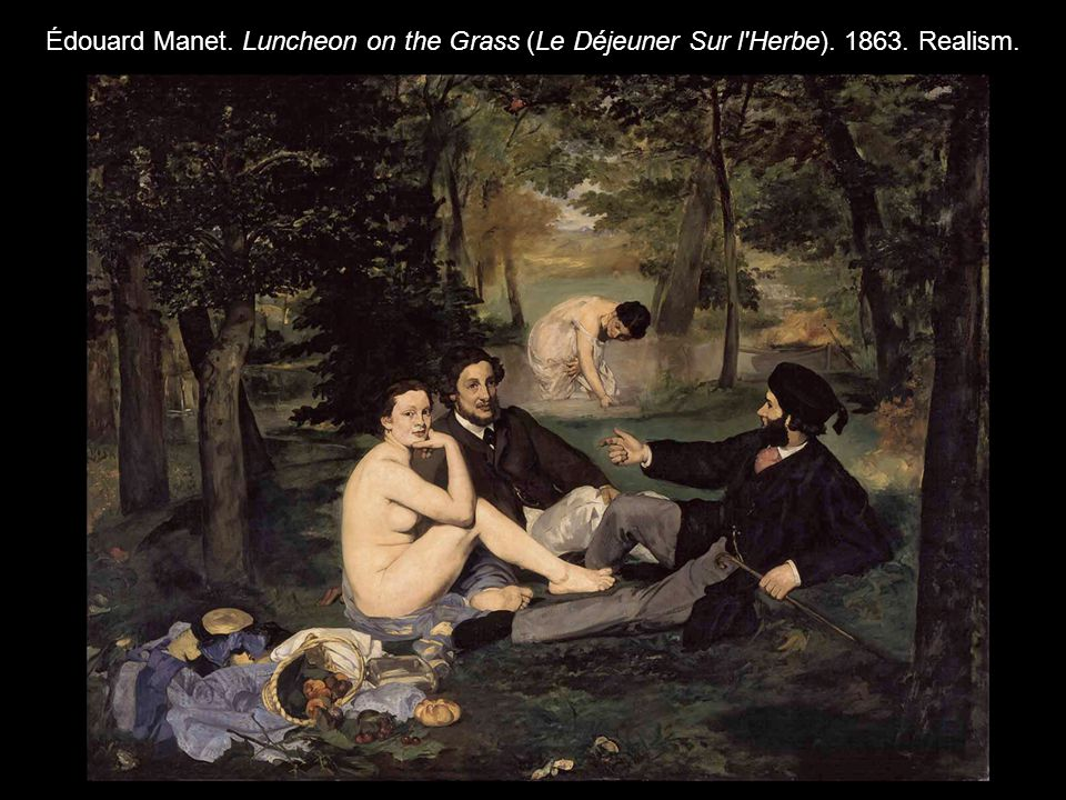 Édouard Manet. Luncheon on the Grass (Le Déjeuner Sur l Herbe). 1863