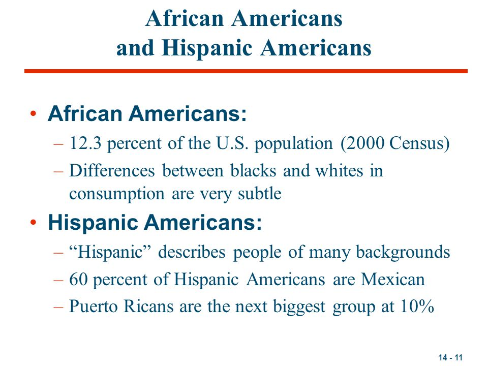 African Americans and Hispanic Americans