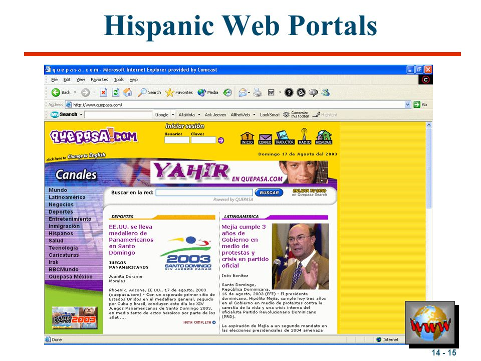 Hispanic Web Portals