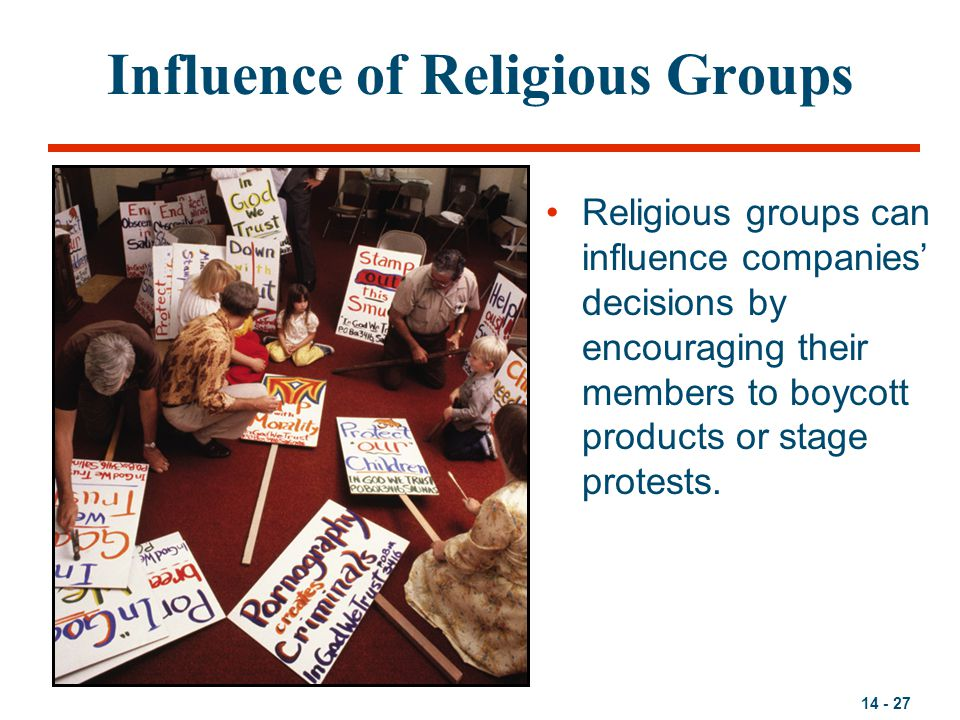 Influence of Religious Groups