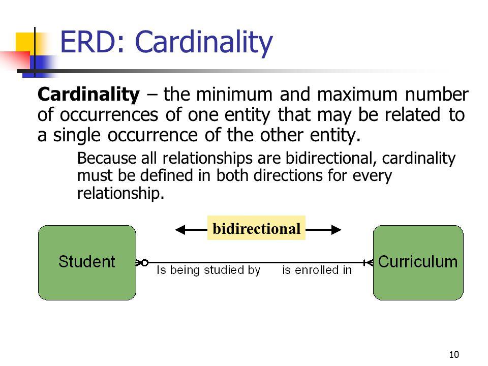 ERD: Cardinality