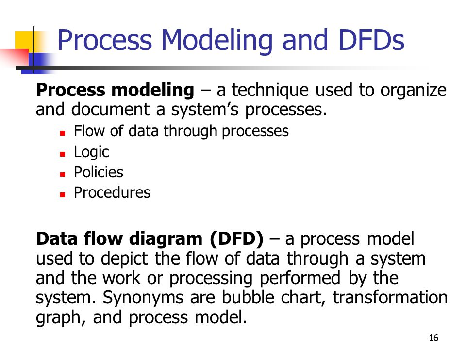 Process Modeling and DFDs