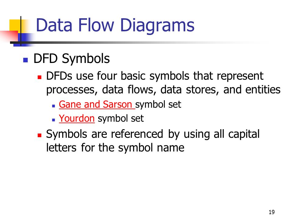 Data Flow Diagrams DFD Symbols