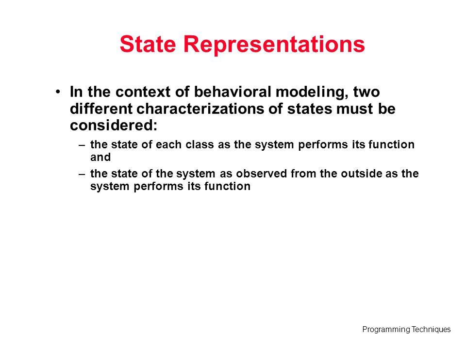 State Representations