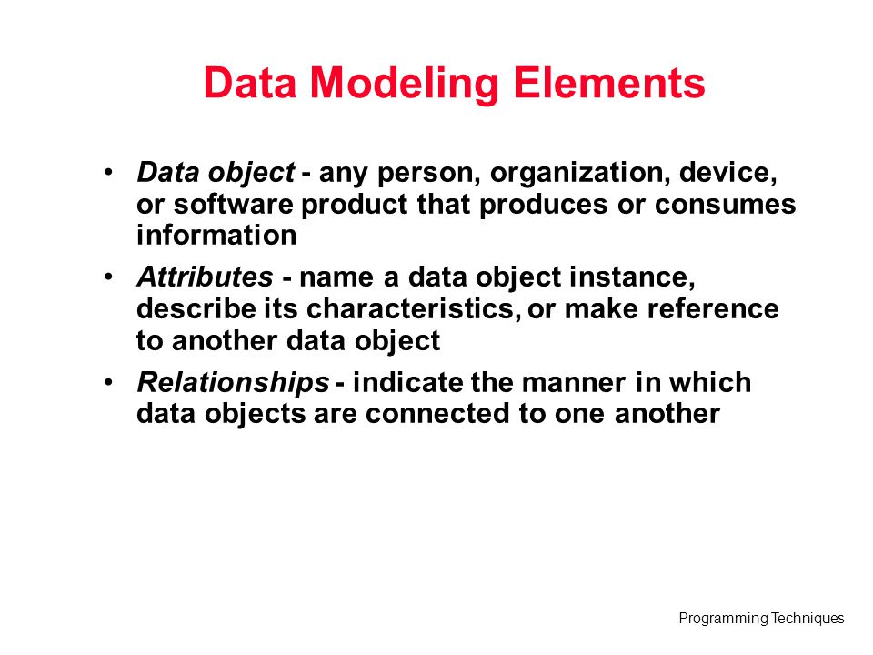 Data Modeling Elements