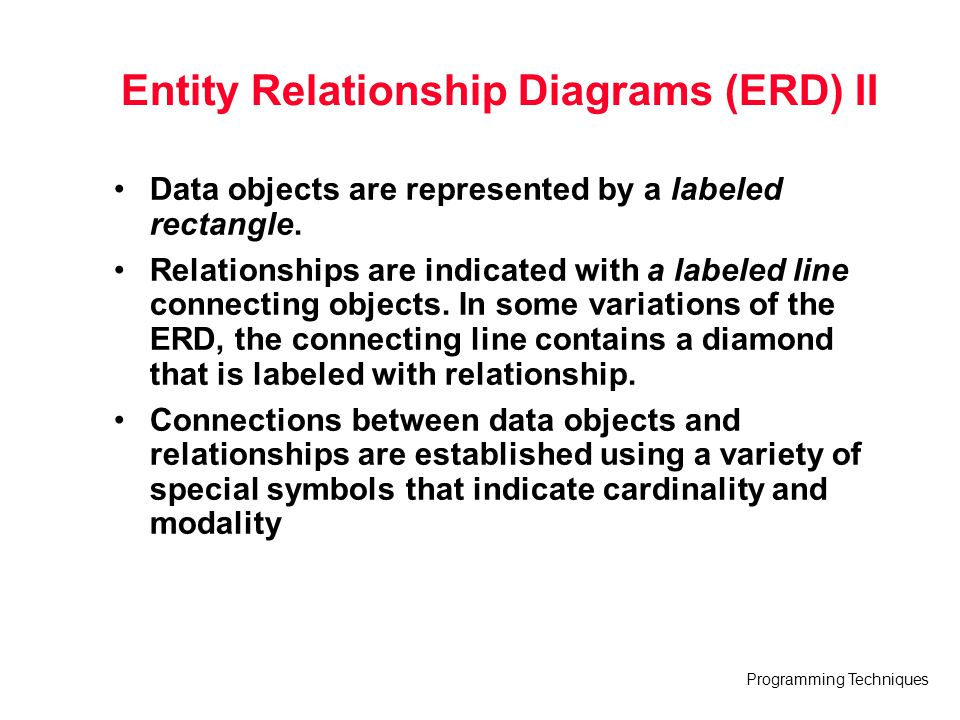 Entity Relationship Diagrams (ERD) II