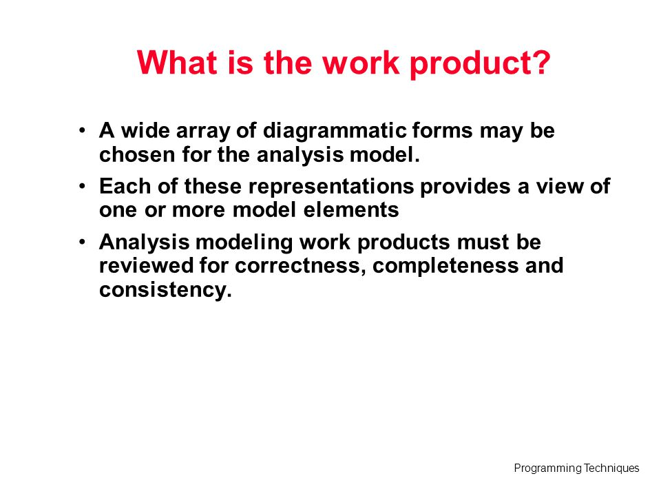 What is the work product