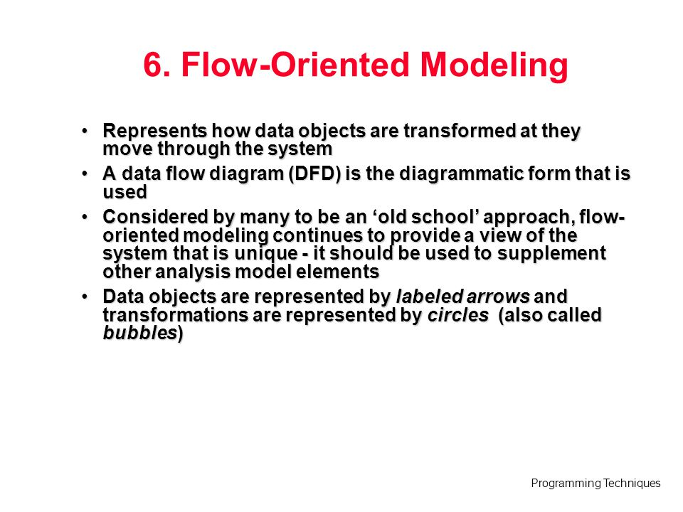 6. Flow-Oriented Modeling