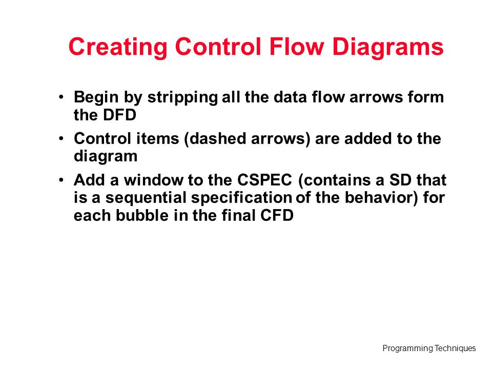 Creating Control Flow Diagrams