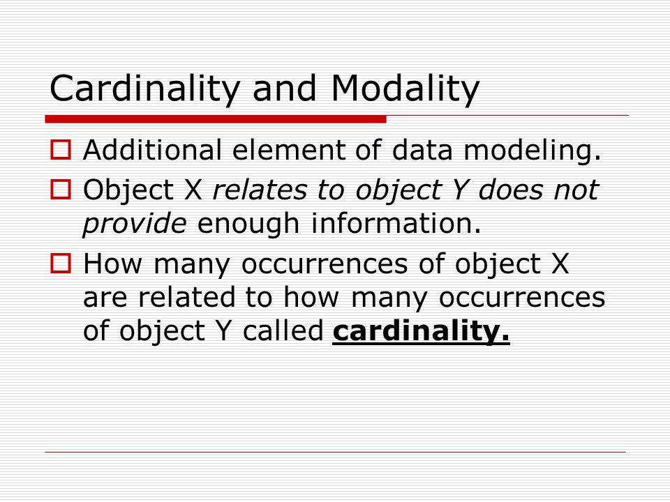 Cardinality and Modality