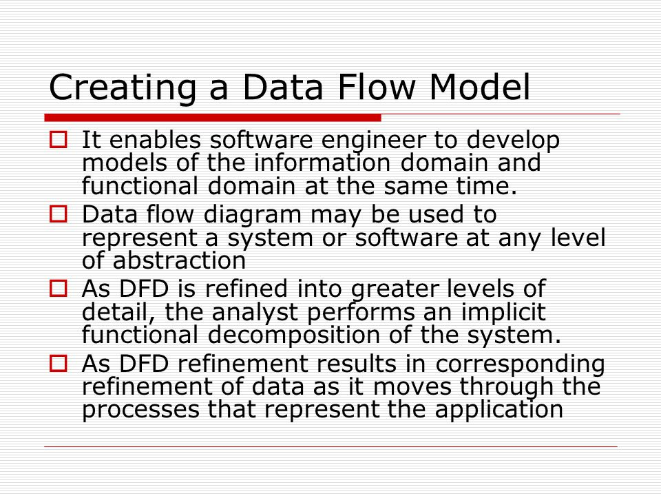 Creating a Data Flow Model