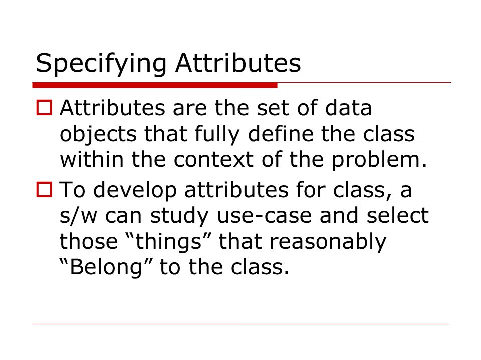 Specifying Attributes