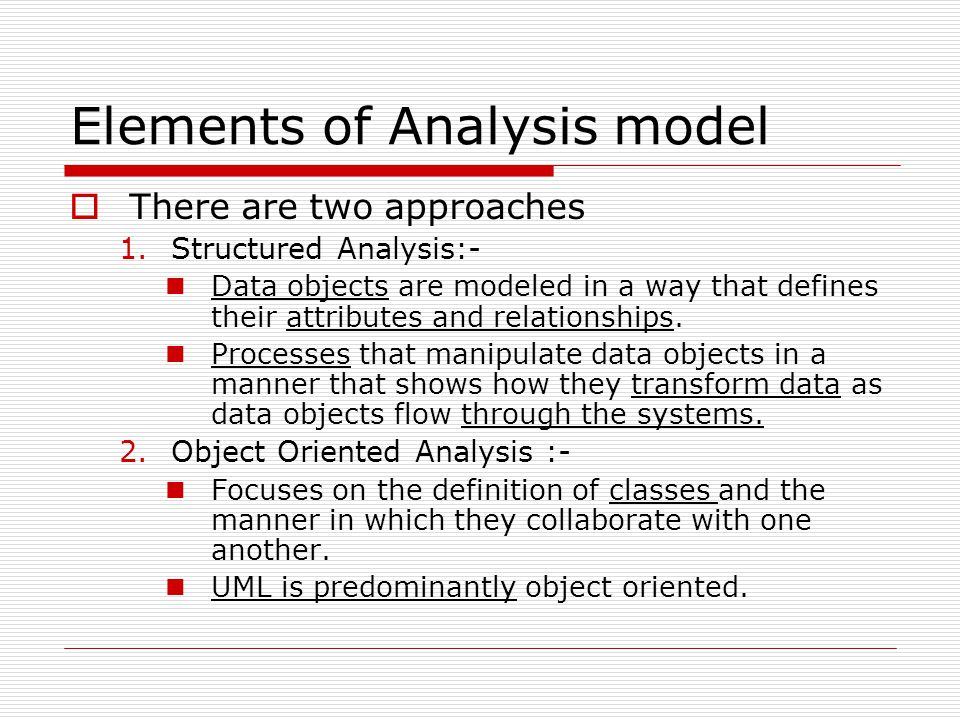 Elements of Analysis model