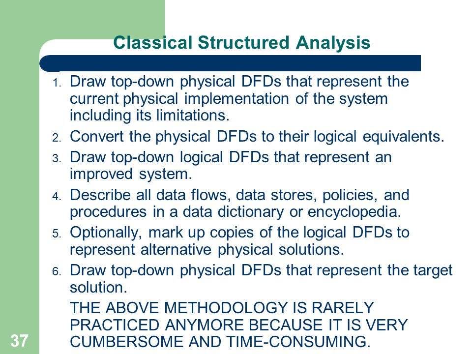 Classical Structured Analysis
