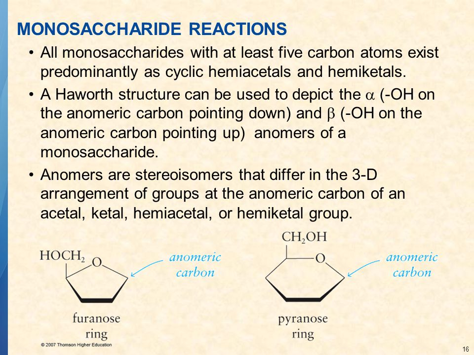 MONOSACCHARIDE REACTIONS