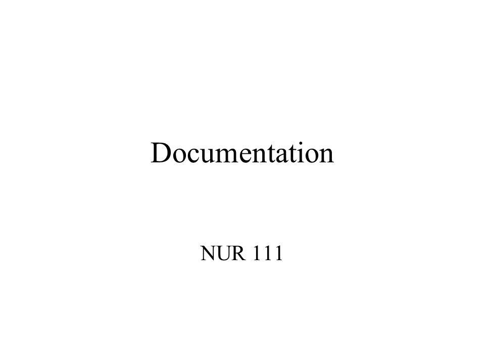 Documentation NUR 111