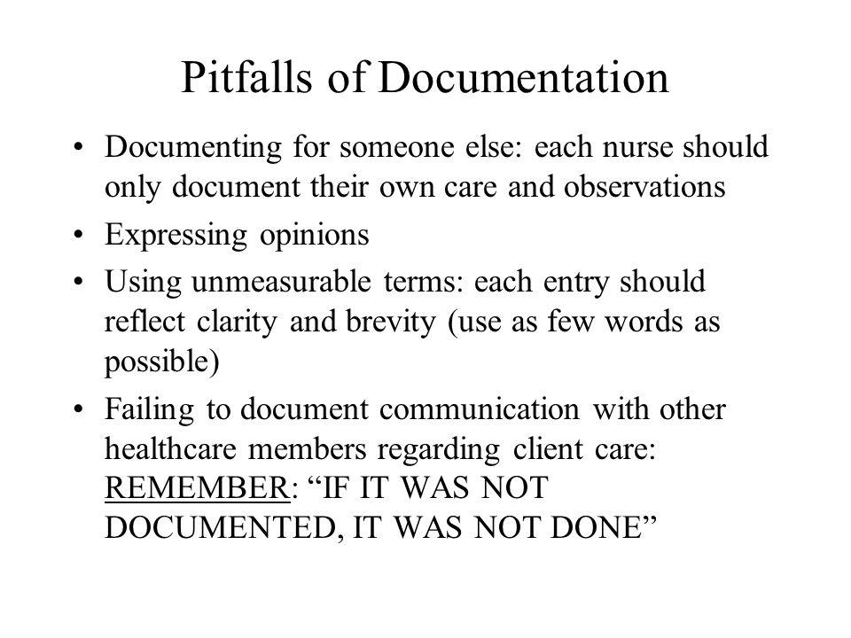 Pitfalls of Documentation