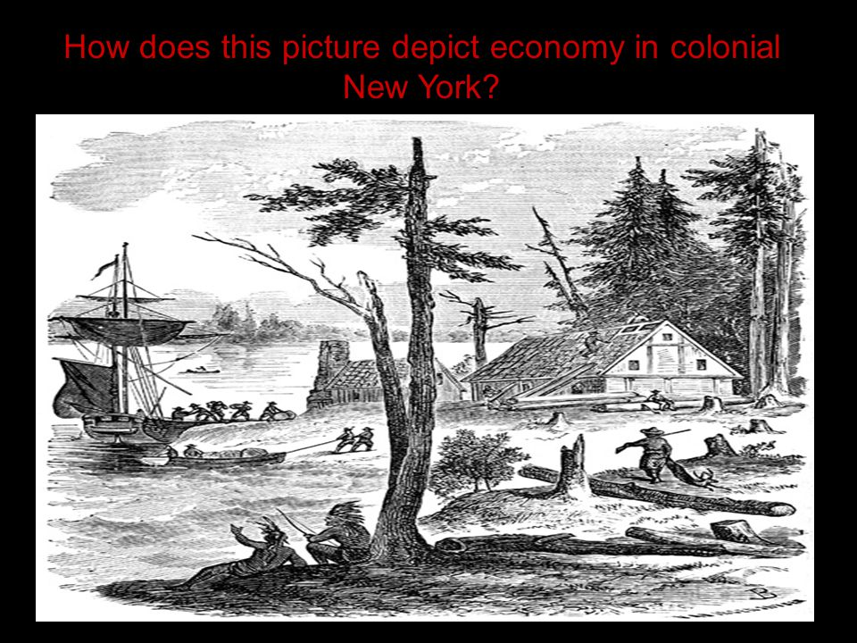 How does this picture depict economy in colonial New York