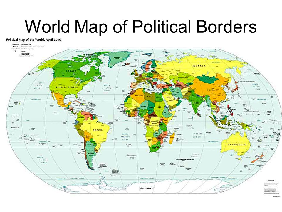World Map of Political Borders