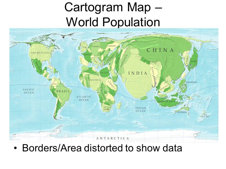 Cartogram Map – World Population