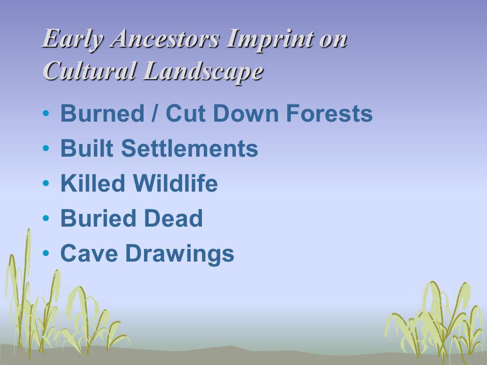 Early Ancestors Imprint on Cultural Landscape