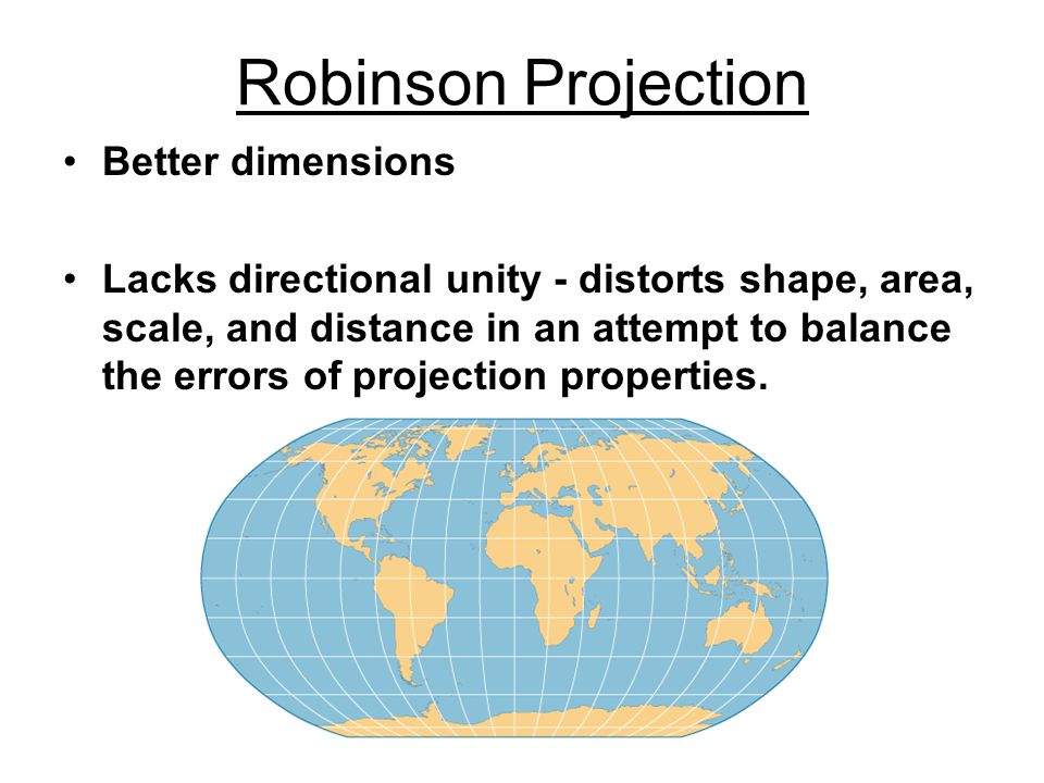 Robinson Projection Better dimensions