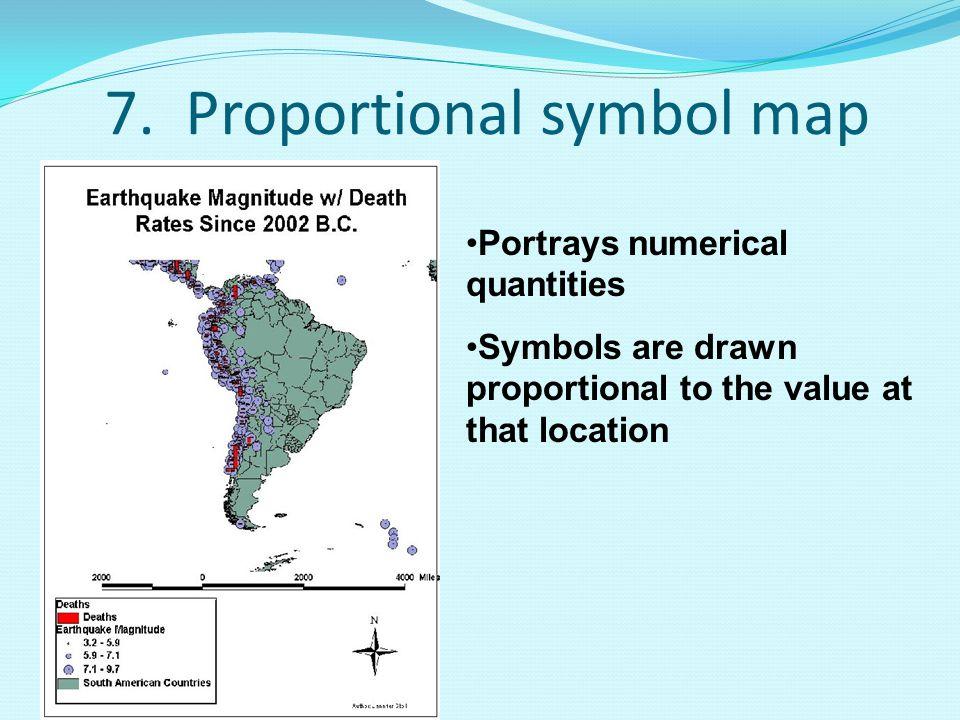 7. Proportional symbol map