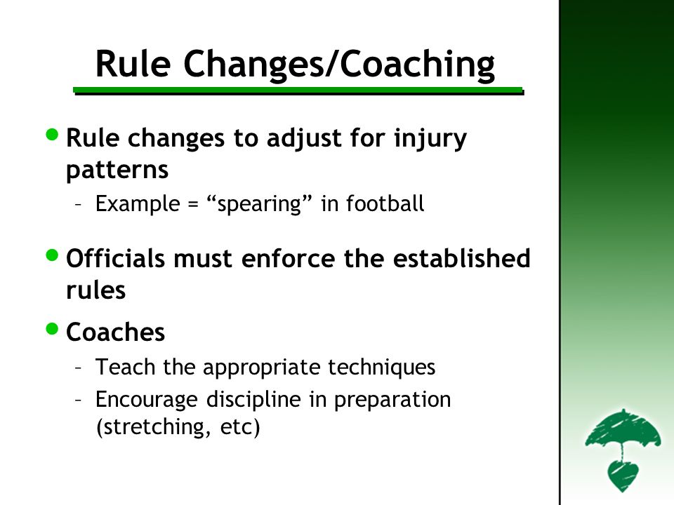 Rule Changes/Coaching
