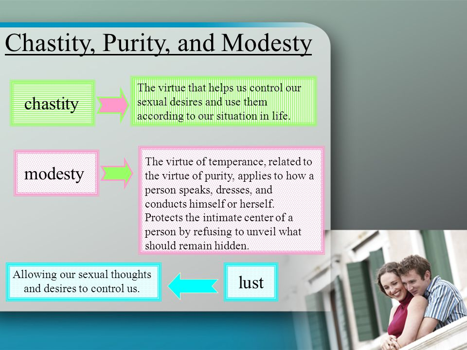Allowing our sexual thoughts and desires to control us.