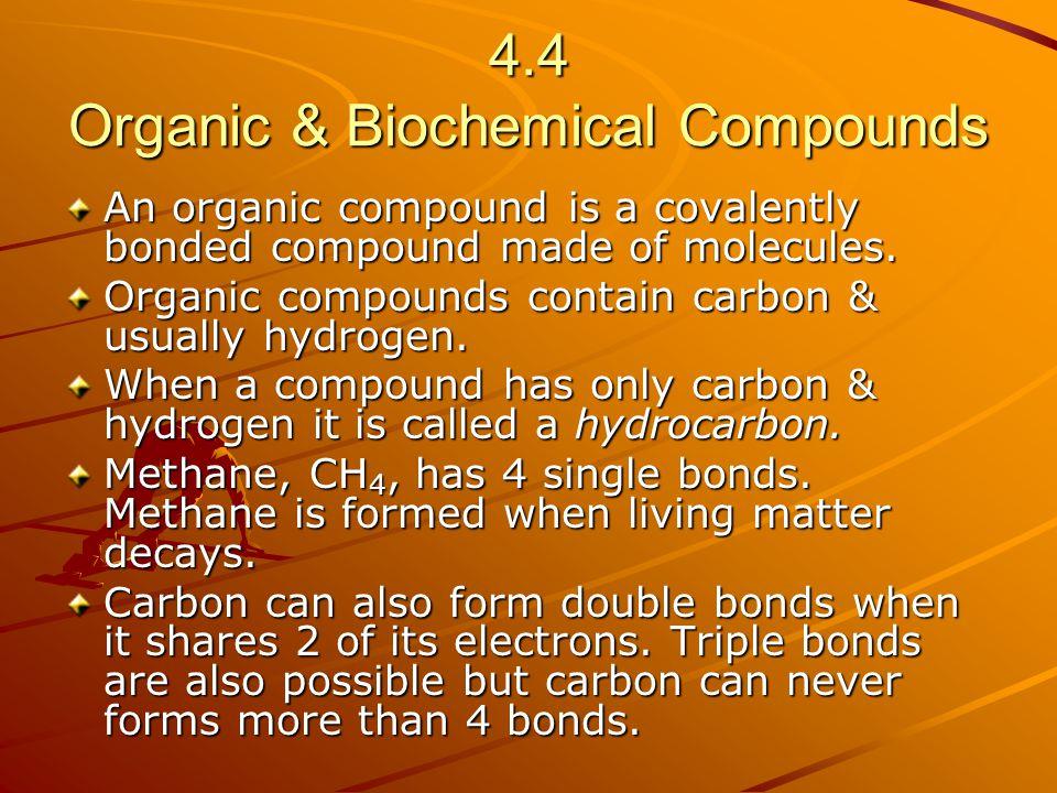 4.4 Organic & Biochemical Compounds