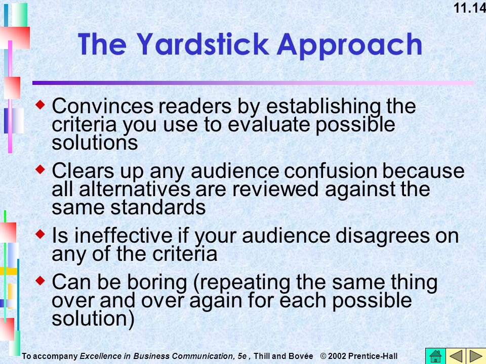 The Yardstick Approach