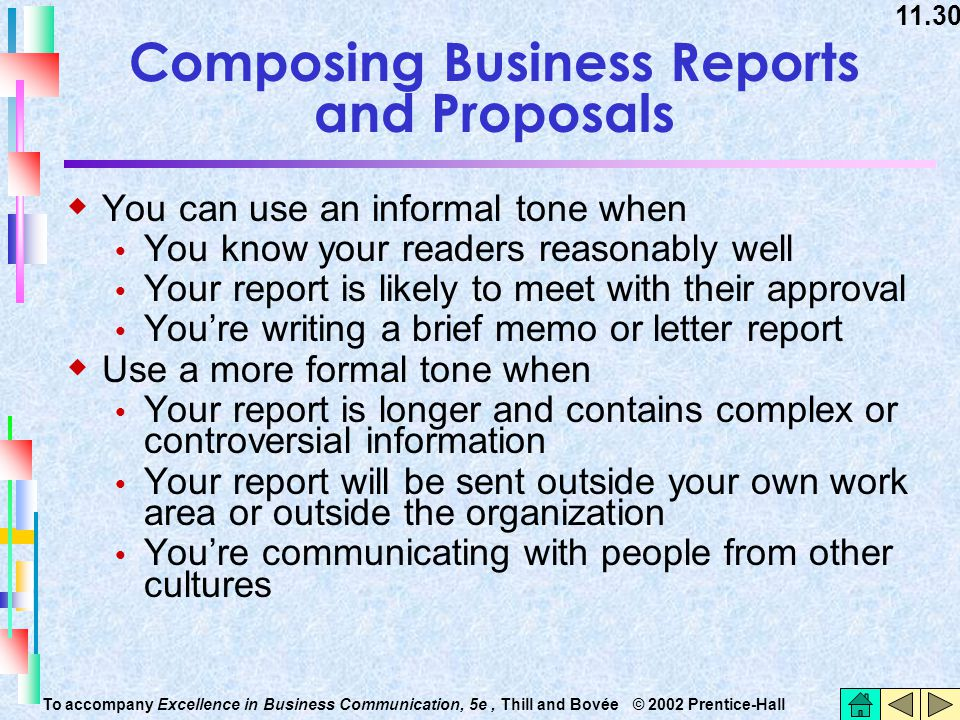Composing Business Reports and Proposals