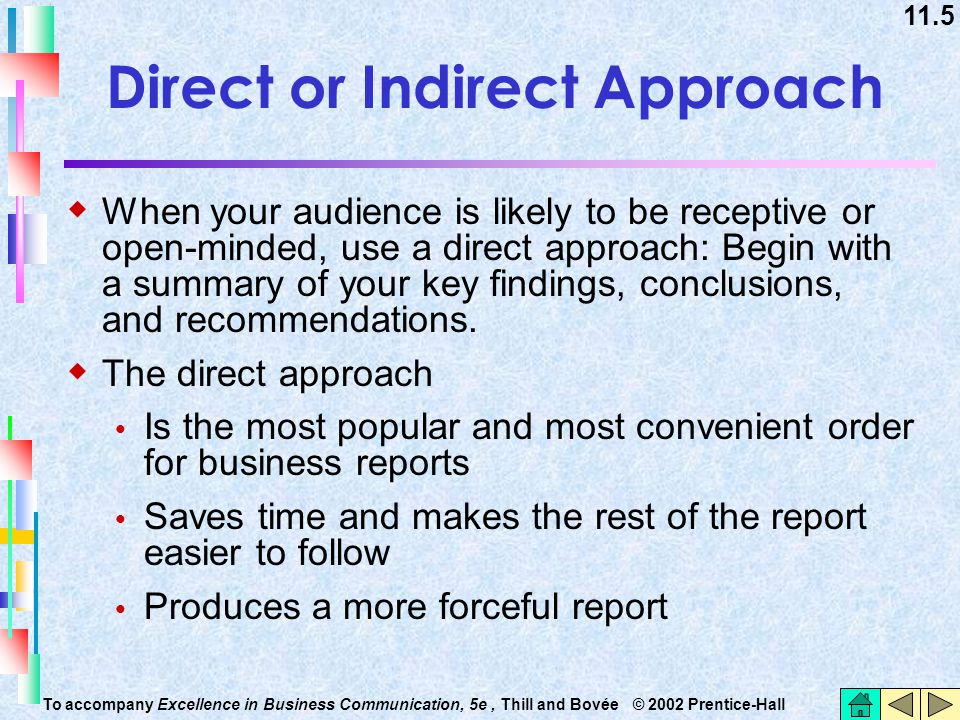 Direct or Indirect Approach