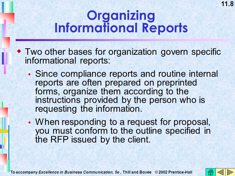 Organizing Informational Reports