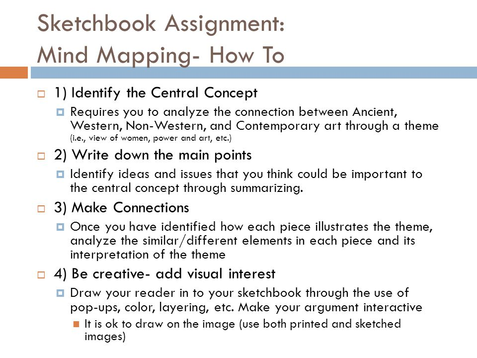 Sketchbook Assignment: Mind Mapping- How To