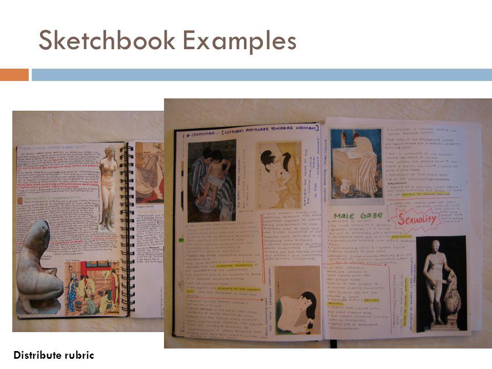 Sketchbook Examples Distribute rubric