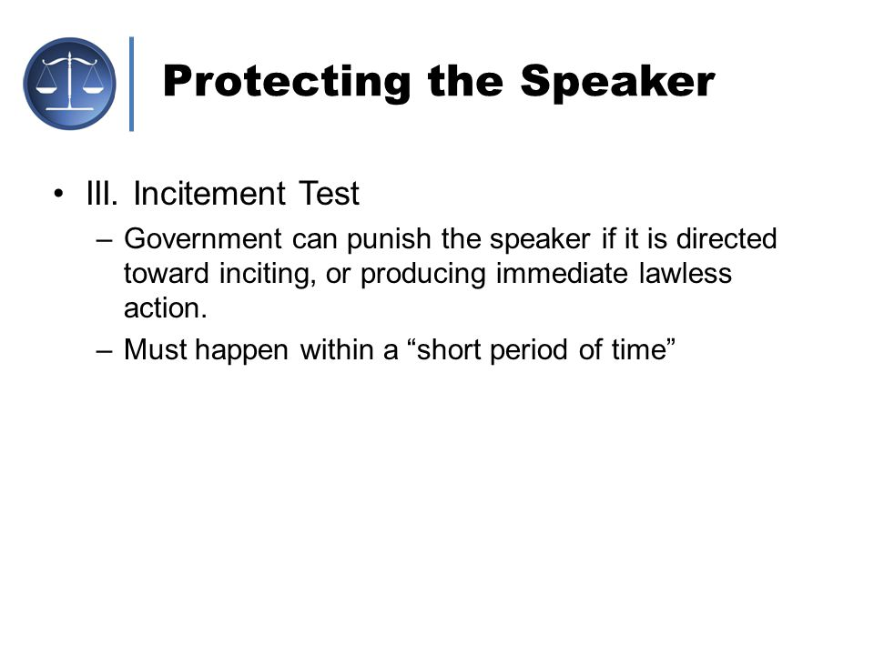 Protecting the Speaker
