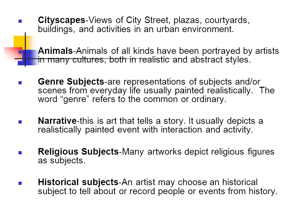 Cityscapes-Views of City Street, plazas, courtyards, buildings, and activities in an urban environment.