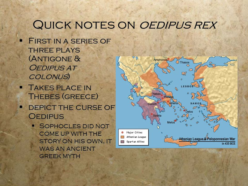 Quick notes on oedipus rex