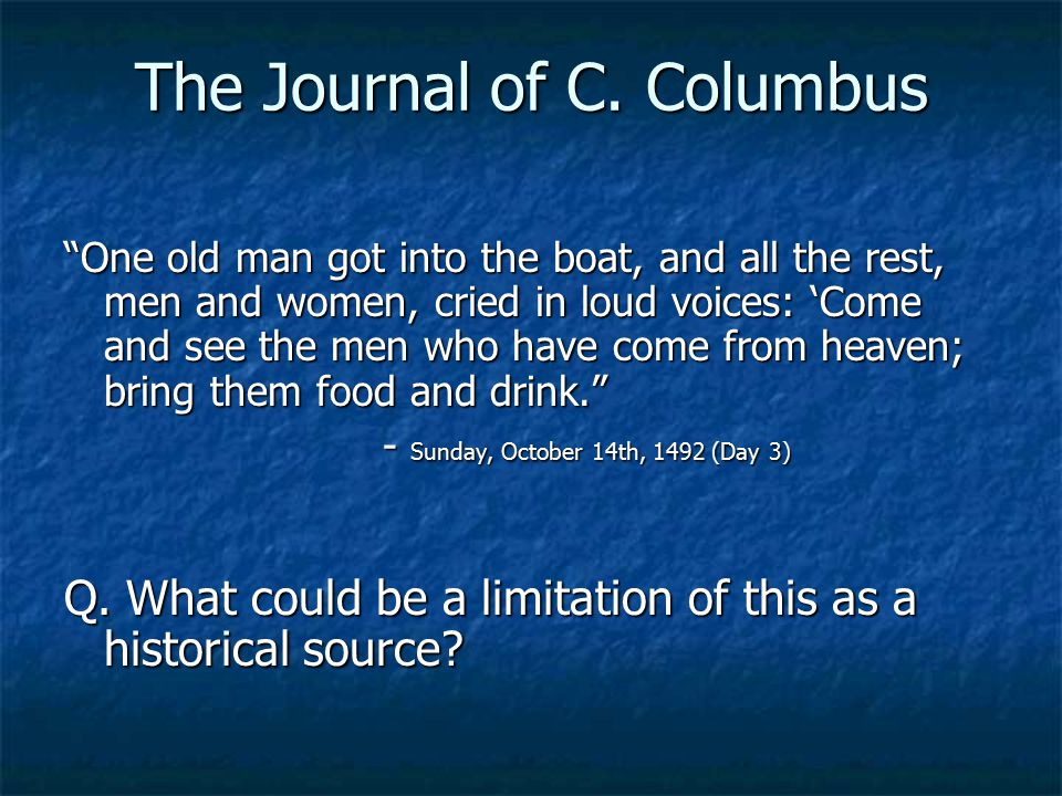 The Journal of C. Columbus