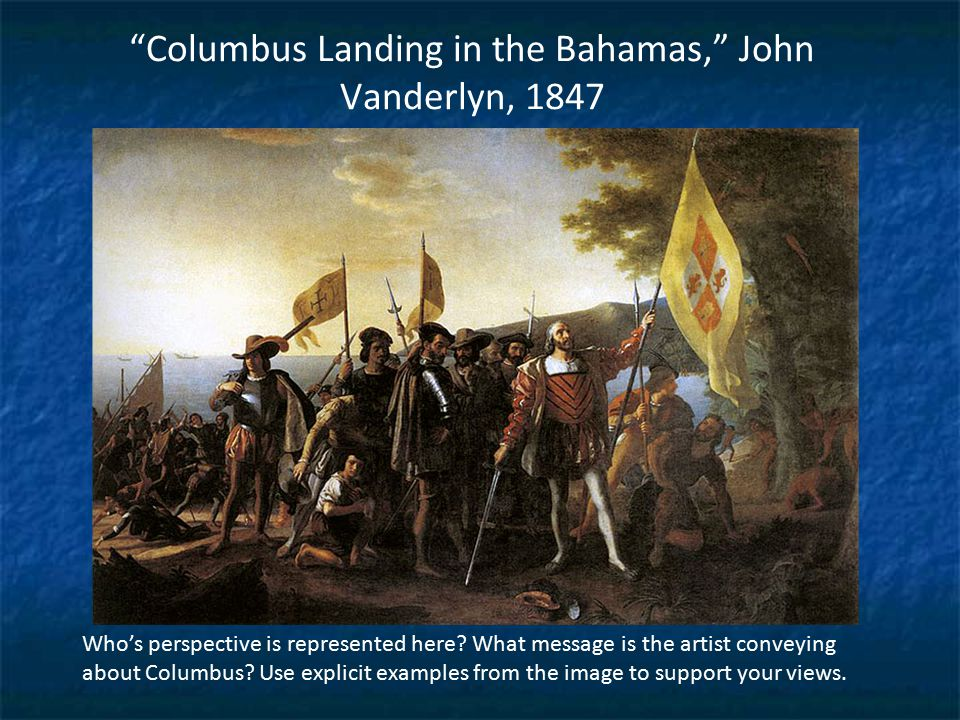Columbus Landing in the Bahamas, John Vanderlyn, 1847