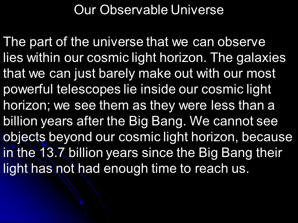 Our Observable Universe