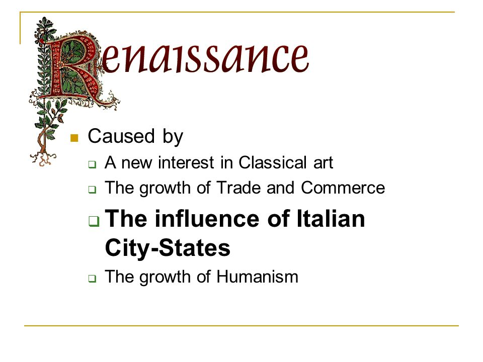 The influence of Italian City-States