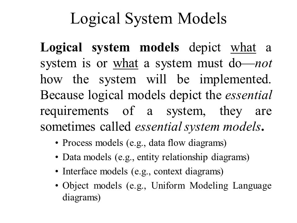 Logical System Models