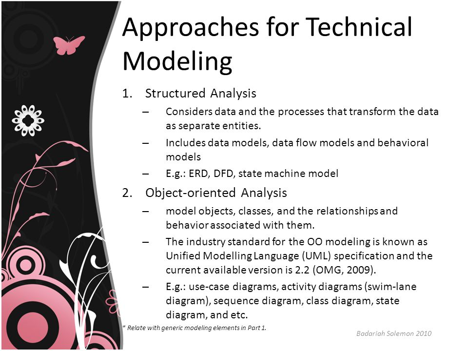 Approaches for Technical Modeling