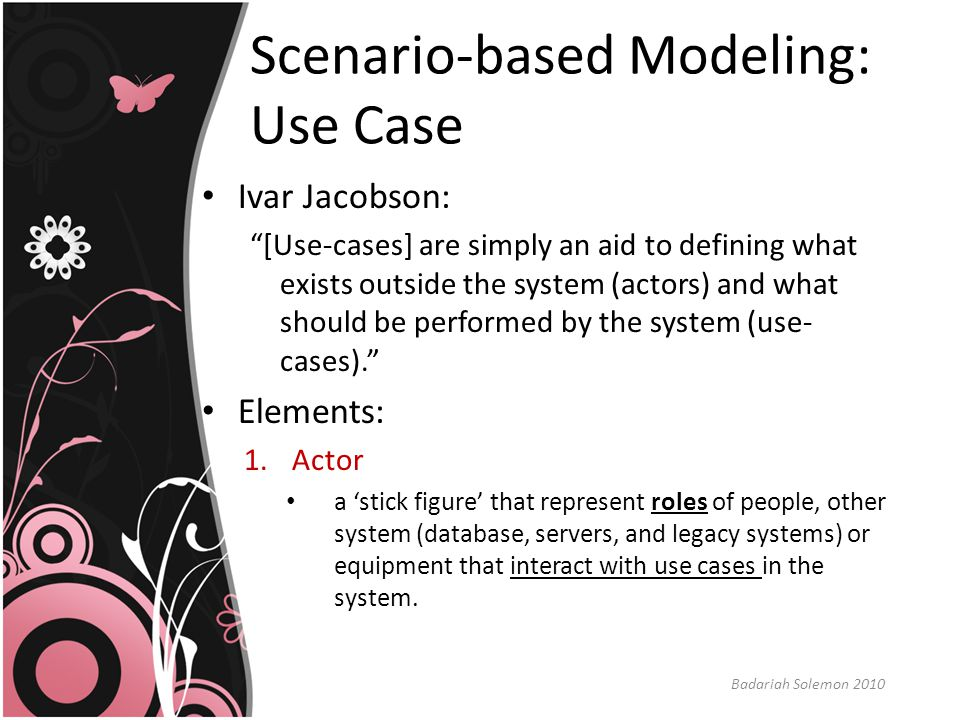 Scenario-based Modeling: Use Case